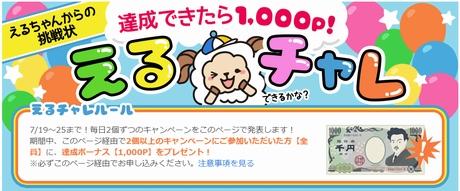 ライフメディアで条件達成すると1,000P(円)プレゼント!
