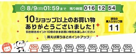 楽天お買い物マラソン10ショップクリア病気かな…?