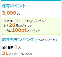i2iポイント「友達紹介ランキング」
