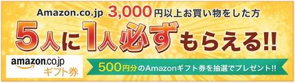 5人に1人500円が当選!